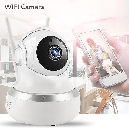 New_Soul Cámaras de Vigilancia Wifi 1080p HD con Giro Inclinación Audio Bidireccional Visión Nocturna, Detección
