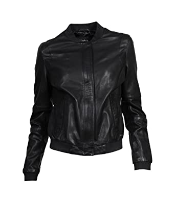 on sale 2521a aaf07 Tigha Damen Lederblouson Lexa in Schwarz: Amazon.de: Bekleidung