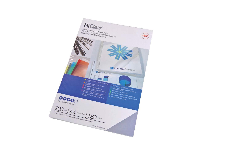 GBC IB770050 Lot de 100 Plats de couverture HiClear Transparent