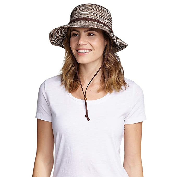 dadd9d7e1 Eddie Bauer Women's Packable Straw Hat - Wide Brim