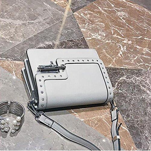 Sac Petit Gray De Paquet Verrouillage Femelle Dame Femme À Bandoulière Diagonale Carré � 22 taille Mode Générique 17cm Main Bouchon vwHdRvKq