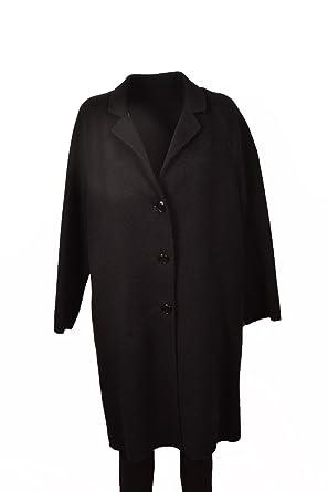 Cappotto nero in beaver di lana 1B12VEY3W5Z99: Amazon.it