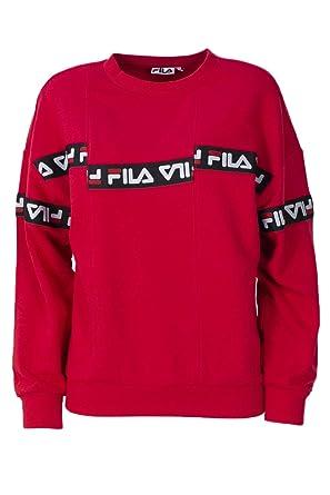 Fila Sweatshirt Damen Clarity Crew 682337 XS rot: Amazon.de: Bekleidung