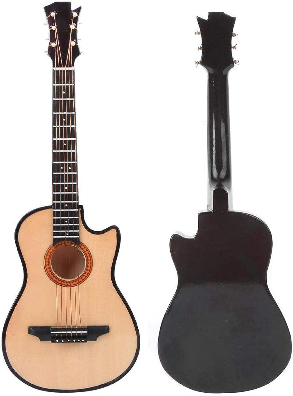 WNSC Mini Modelo de Guitarra, Modelo de Guitarra acústica clásica de Escritorio, Amantes de la Guitarra vívidos exquisitos para la decoración del hogar Decoración de Escritorio para(25cm)