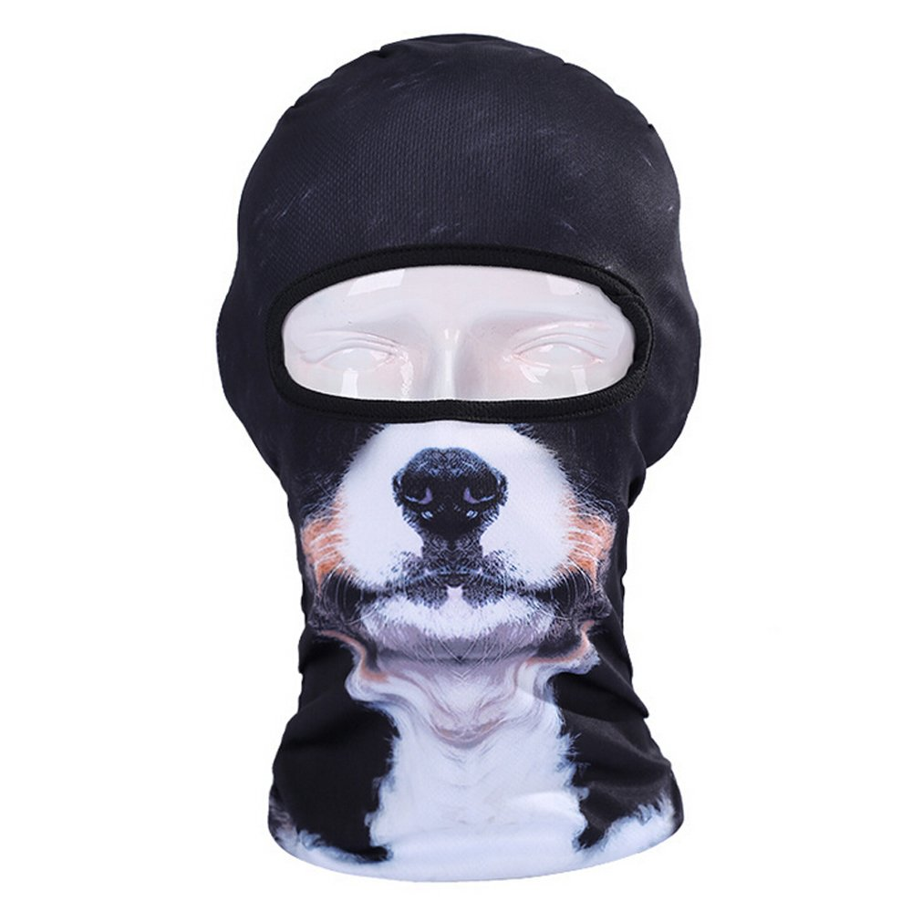 Ezyoutdoor Full Face Motorcycle Bicycle Bike Skull Mask Snowmobile Hood Neck Balaclava Hat Animal Outdoor Sport Cosplay Costume (#013)