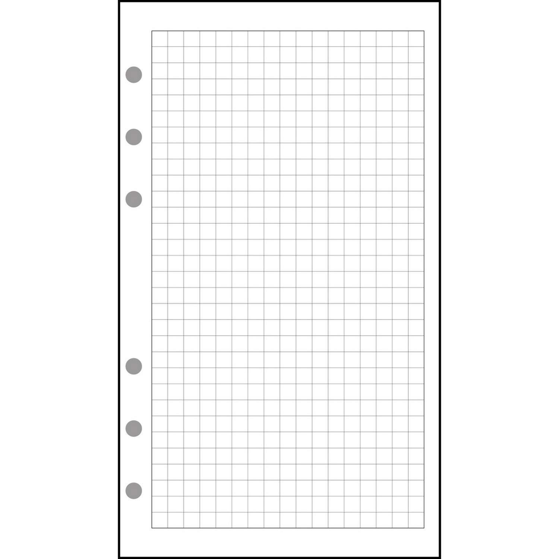 Exacompta 18111–Ricarica fogli a quadretti 5x 5per organiser Exatime 1744Fogli, colore: bianco 18111E
