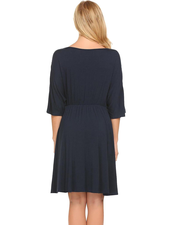 23bf1e9da37 Goldenfox Women Nursing Sleepwear Nightgowns Maternity Breastfeeding  Pregnancy Pajama Dress for Hospitals-XXL at Amazon Women s Clothing store