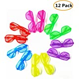 e7d2eb8da3 12 Pairs Shutter Glasses 80 s Party Slotted Sunglasses for Kids   Adults