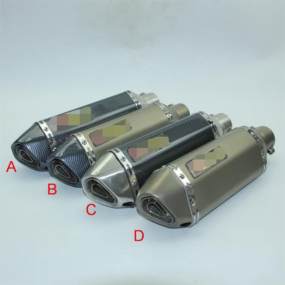 Tubo de Escape Universal con silenciador, Accesorios de Modificació n para Motocicleta, GY6 CBR CBR125 CBR250 CB400 CB600 YZF FZ400 Z750 Accesorios de Modificación para Motocicleta Ocamo