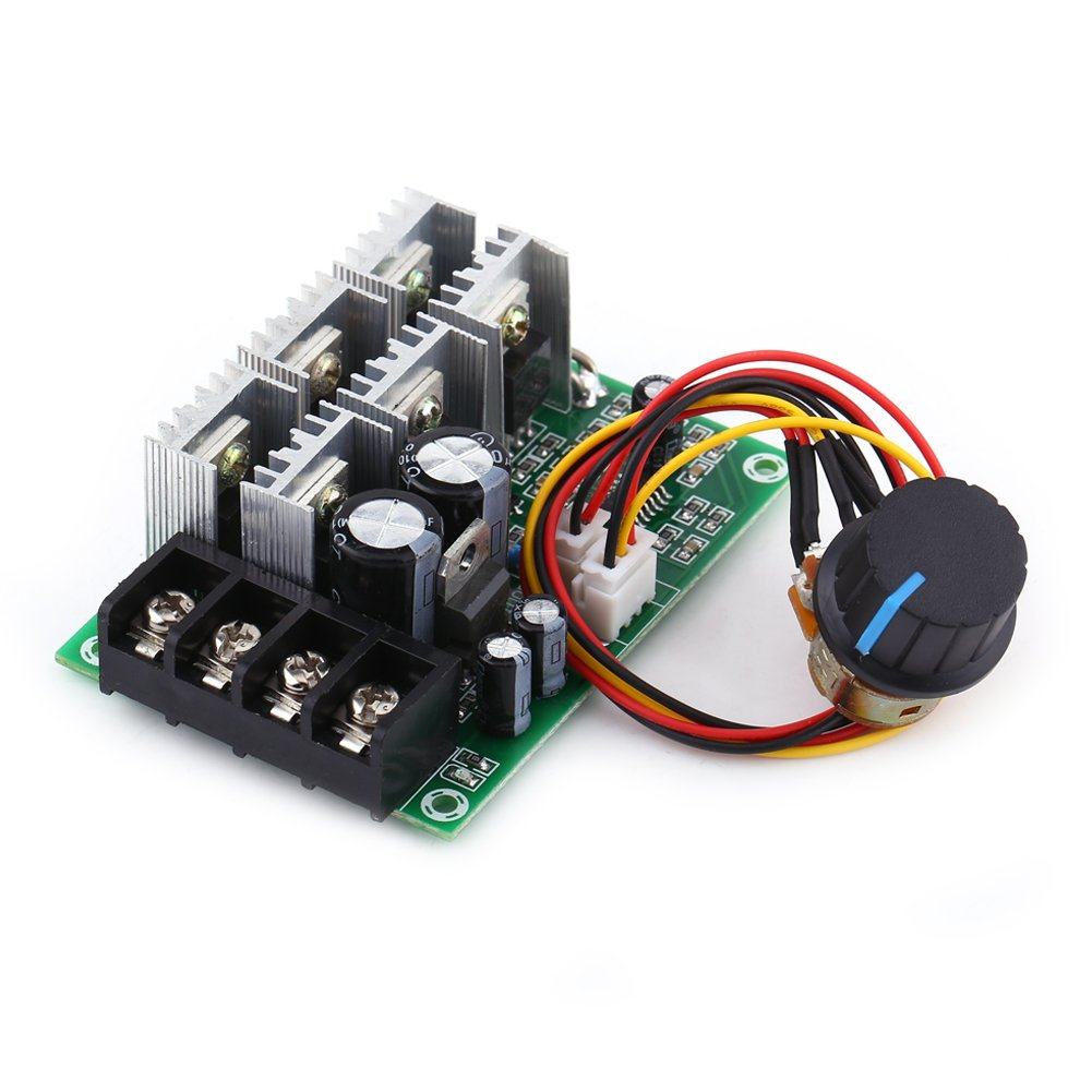 DC Motor Speed Controller with Overload Protector 12V 36 V 48V 30A Slow Start Adjustable Speed Board for Permanent Magnet DC Brushed Motor