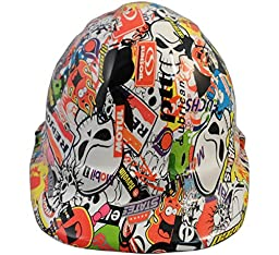 Texas America Safety Company Sticker Bomb Cap Style Hydro Dipped Hard Hat