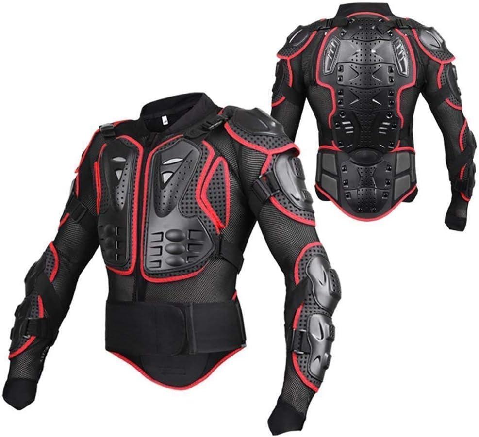 WILDKEN Chaqueta de Protección para Motocross Motos Ropa Protectora de Cuerpo Armadura Completo Profesional de Motocicleta Deportiva para Hombres Columna Vertebral Hombro Mujer Pecho (Rojo, L)