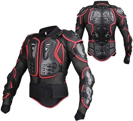 Wildken Motorrad Schutz Jacke Pro Motocross Atv Protektorenjacke Mit Rückenprotektor Scooter Mtb Enduro Für Damen Und Herren Rot Xl Auto