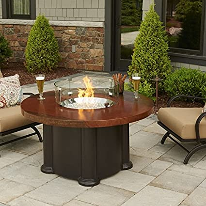 60,000 BTUs Fire Pit Table with Round Acid Wash Top