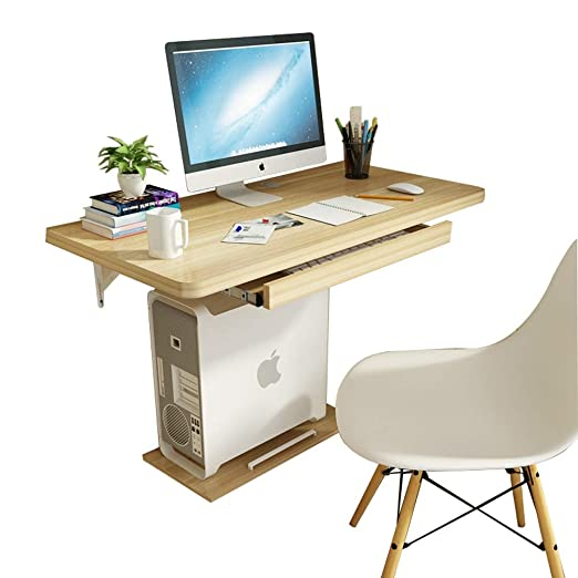 HYDT Mesa de escritorio de madera de nogal claro para colgar en la ...