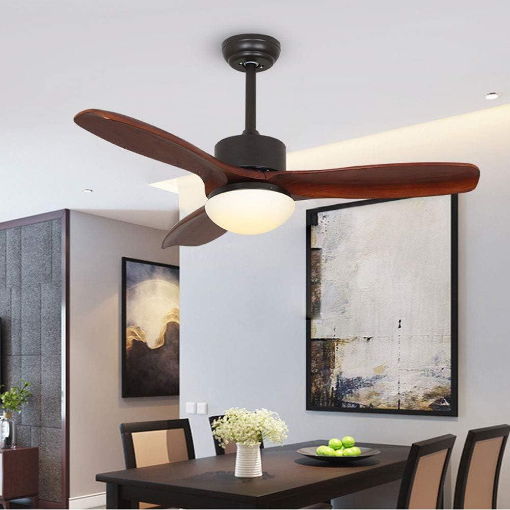 La luz de techo del ventilador retro, de madera maciza ventilador ...