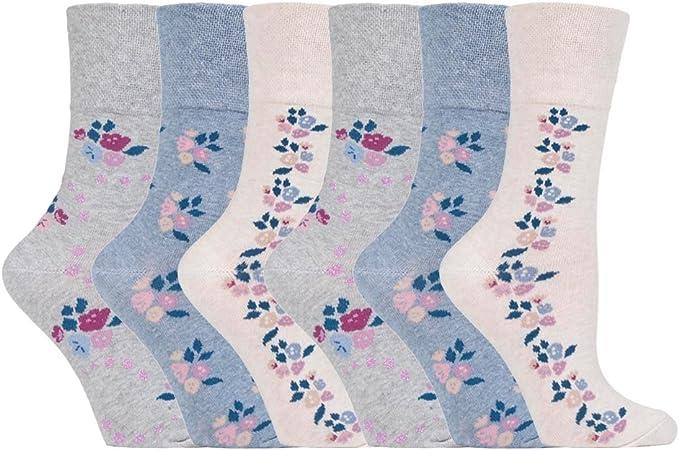 Ladies Sock Shop Gentle Grip Non Elastic Diabetic Socks UK 4-8//EU 37-42