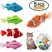 Hcpet 5 STÜCKE Elektrische Fische Katze, Katze Spielzeug, Bewegung Fische Katze Necken Spielzeug Kätzchen Spielzeug