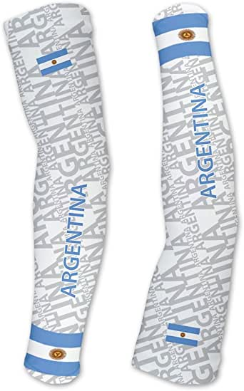 Argentina ScudoPro Compression Arm Sleeves UV Protection Unisex - Walking - Cycling - Running - Golf - Baseball - Basketball