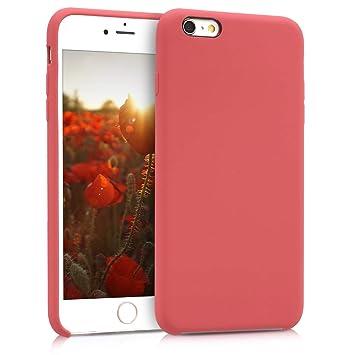 kwmobile Funda para Apple iPhone 6 Plus / 6S Plus - Carcasa de [TPU] para teléfono móvil - Cover [Trasero] en [Fucsia]