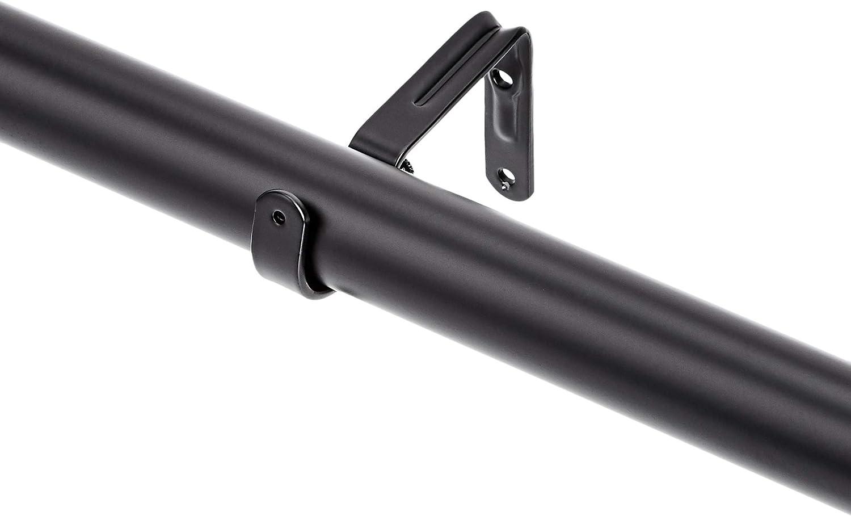 Basics diametro 3 cm Bastone per tenda da 183 a 366 cm con terminali a cilindro nero