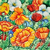 Poppies - Decorative Ceramic Art Tile - 6''x6'' En Vogue