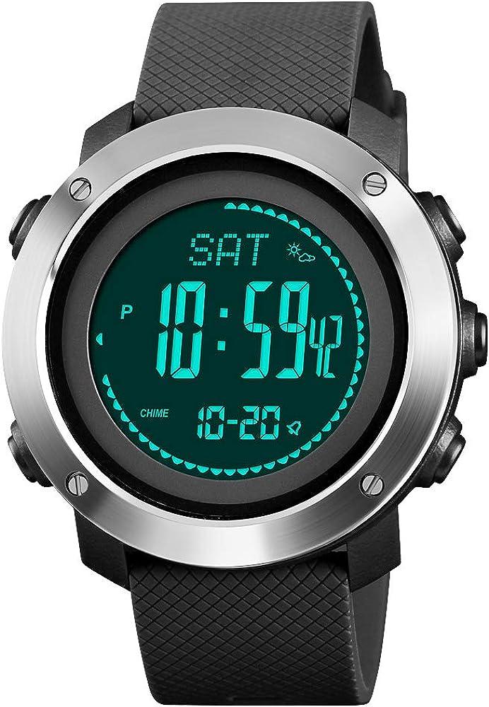 Rubber Strap Mens Watch Multifunction Sport Watch