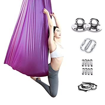 Amazon.com: Flying Hammock Aerial Yoga Hammock Aerial Yoga ...