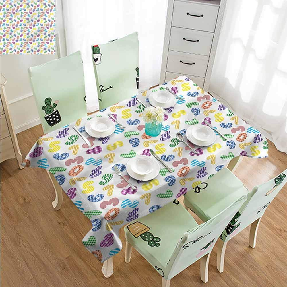 SLLART Tablecovers Rectangle Numbers,Dots and Lines Math W60 xL102,for Party