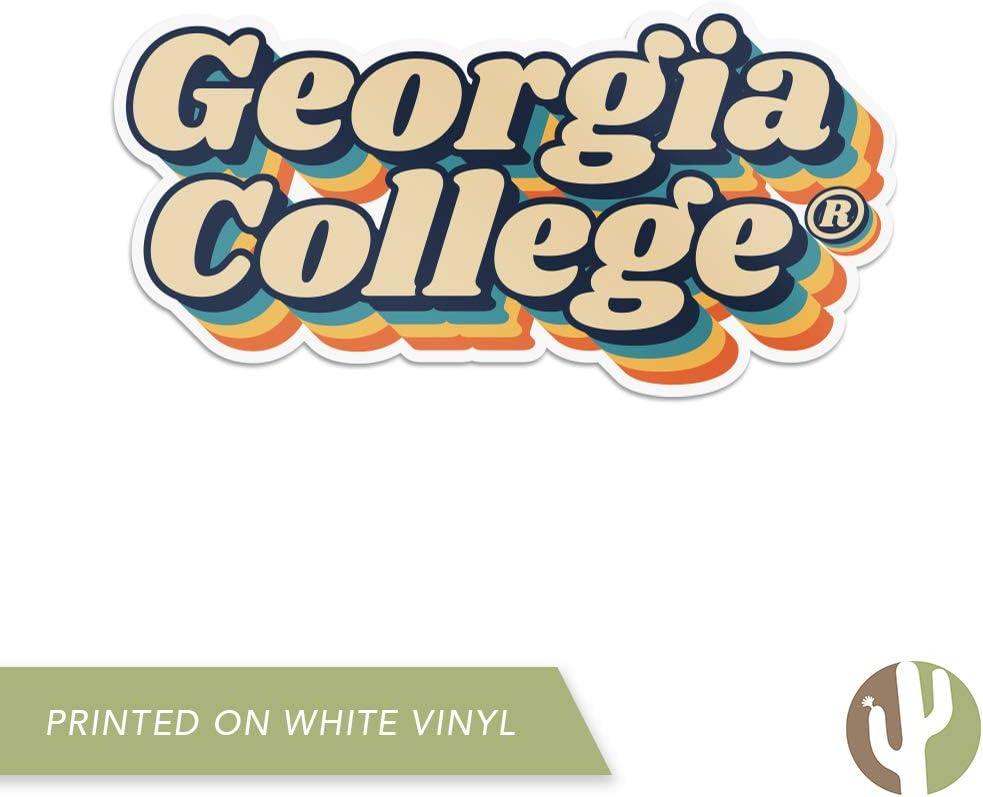 70s Name Sticker Georgia College GCSU Bobcats NCAA Vinyl Decal Laptop Water Bottle Car Scrapbook