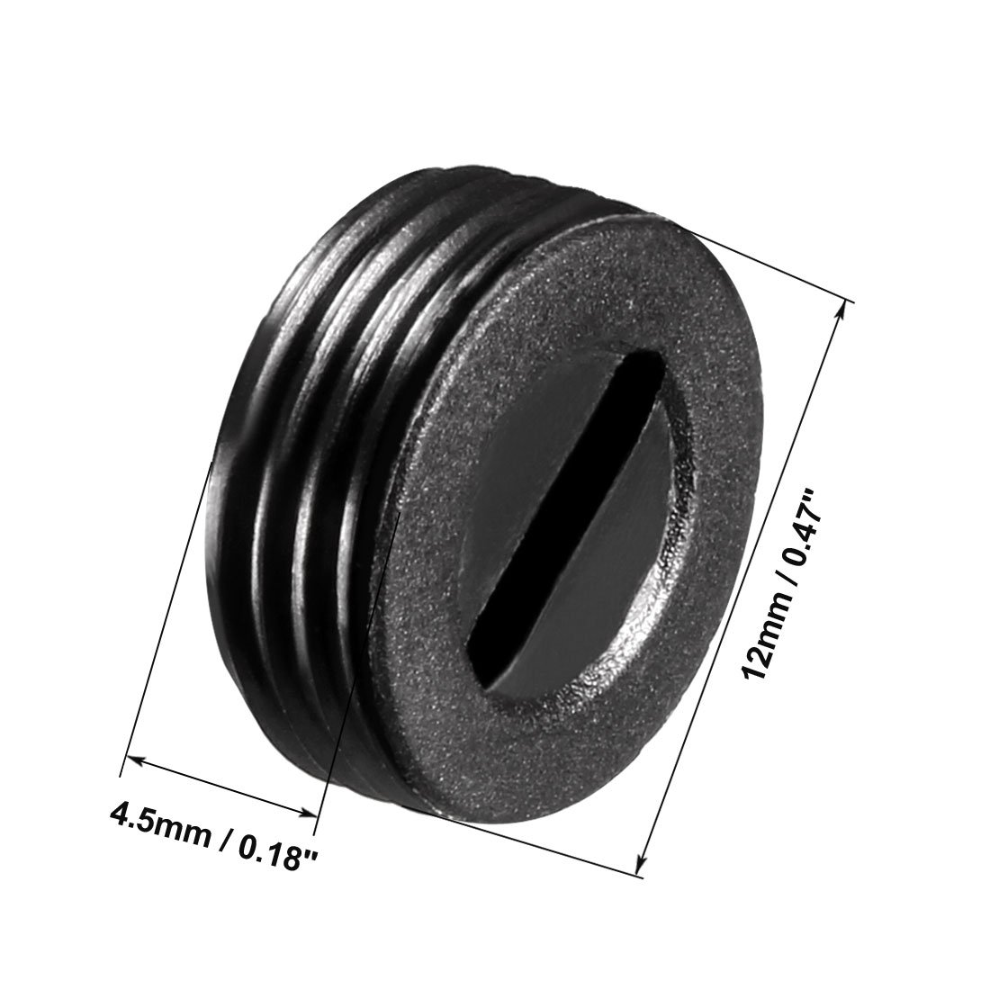 Grosor del motor de 9,5 mm Cubierta del cepillo del motor Rosca de montaje de pl/ástico Negro 2 piezas sourcing map Tapas de soporte de escobillas de carb/ón de 14 mm de di/ámetro exterior 6 mm I.D