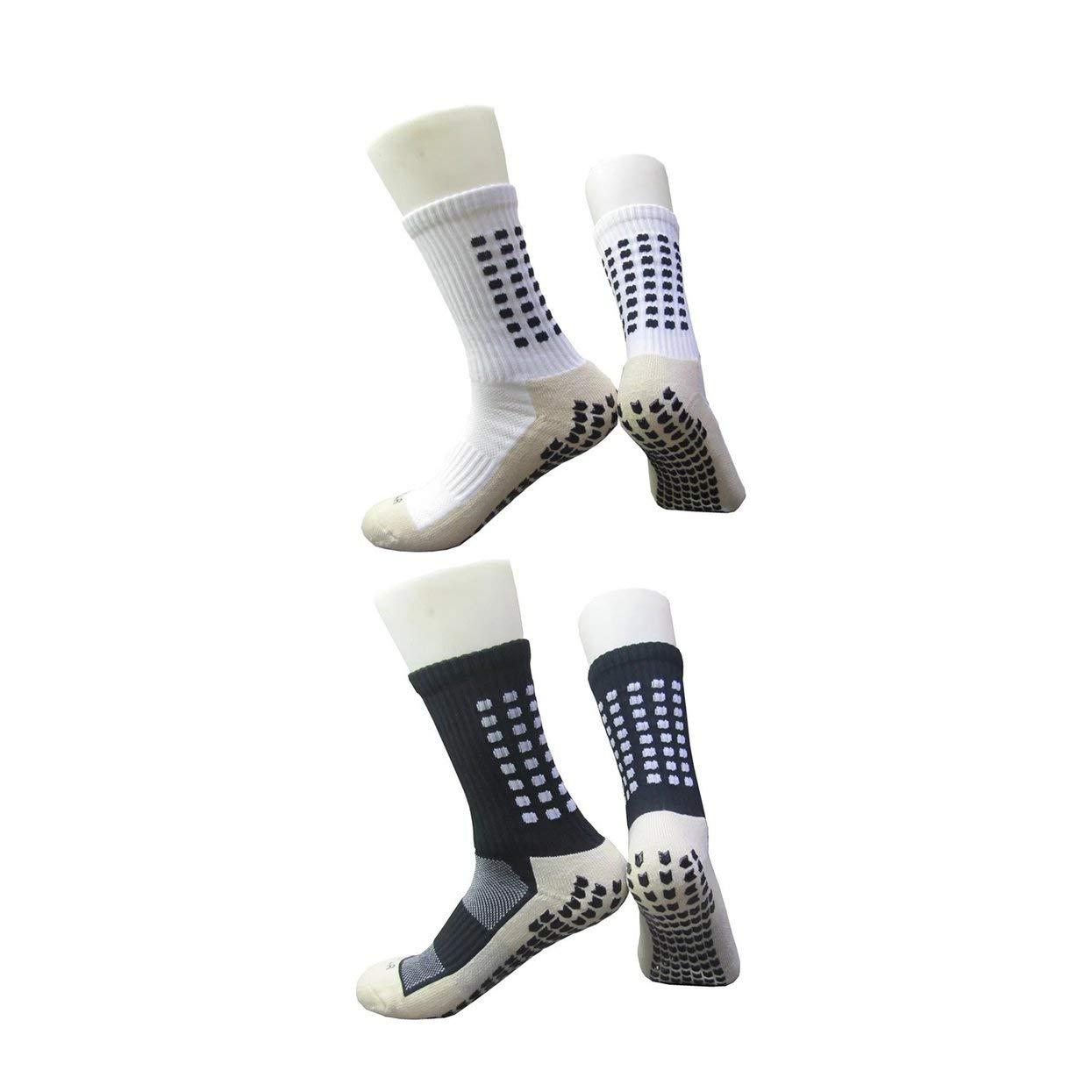 LoveOlvidoF 2 Paires de Chaussettes de Sport antidé rapantes de Football de Style de Football de Style de Tocksox de Trusox