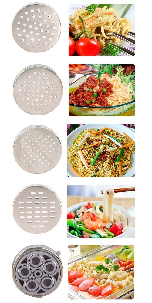 Hewnda Stainless Steel Pasta Maker 5 Noodles Mold Pasta Maker Citrus Juicer by Hewnda (Image #6)