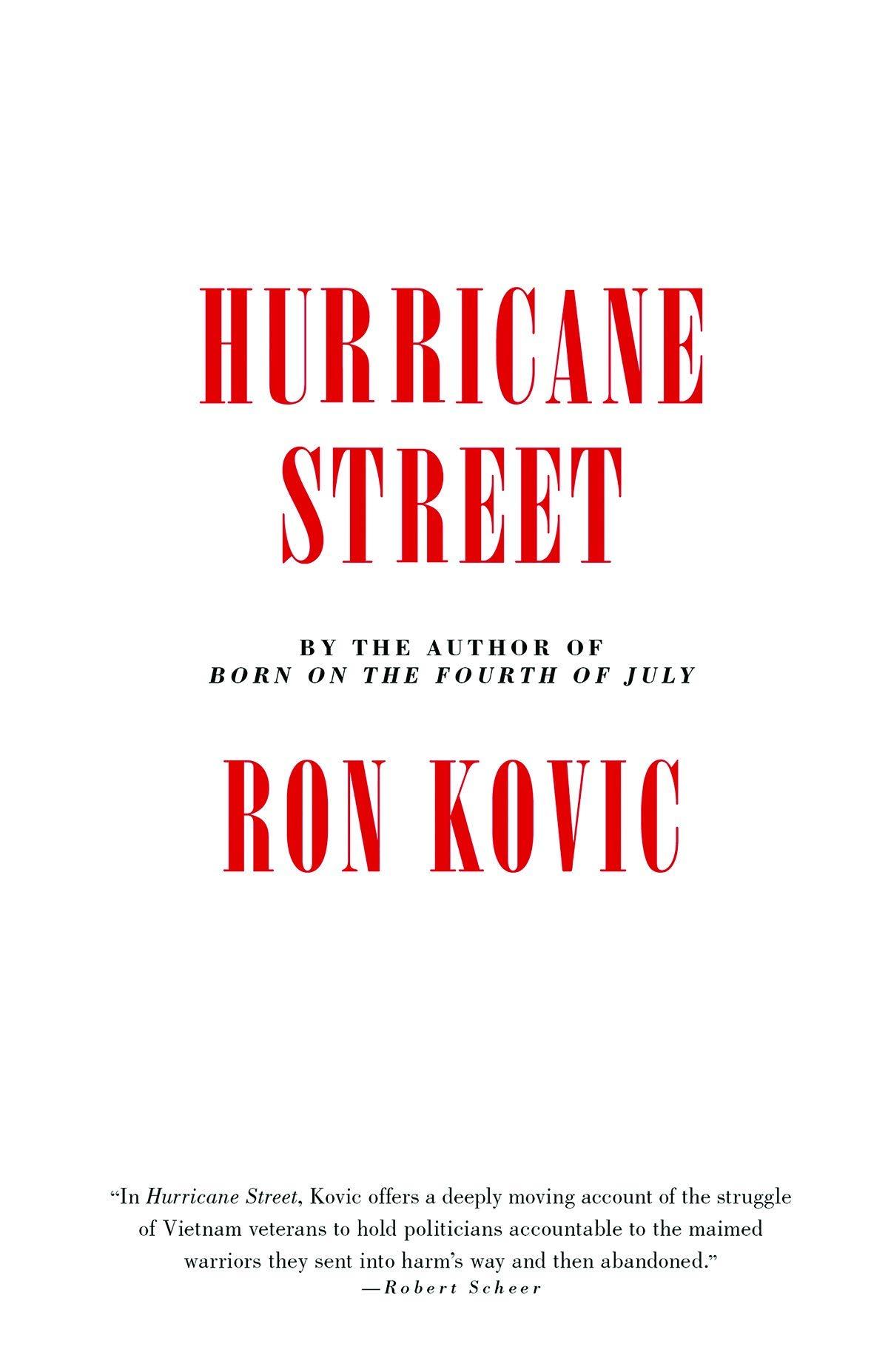 Hurricane Street: Amazon.es: Kovic, Ron: Libros en idiomas ...