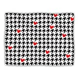 Kess InHouse Empire Ruhl ''Spacey Houndstooth Heart'' Pet Blanket, 40 by 30-Inch
