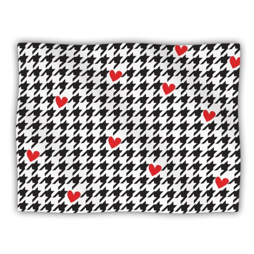 Kess InHouse Empire Ruhl ''Spacey Houndstooth Heart'' Pet Blanket, 40 by 30-Inch by Kess InHouse