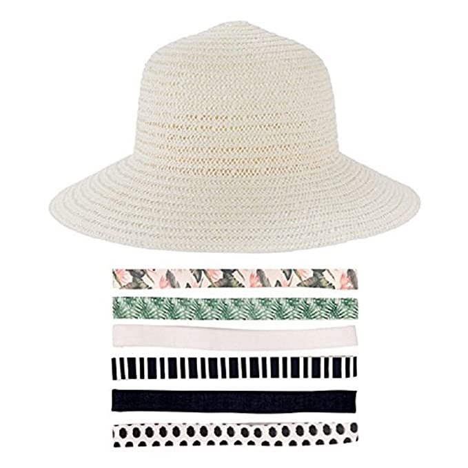 aebed58dfad3d Summer   Rose Foldable Hat In Cream - Fabfitfun  Amazon.ca  Clothing    Accessories