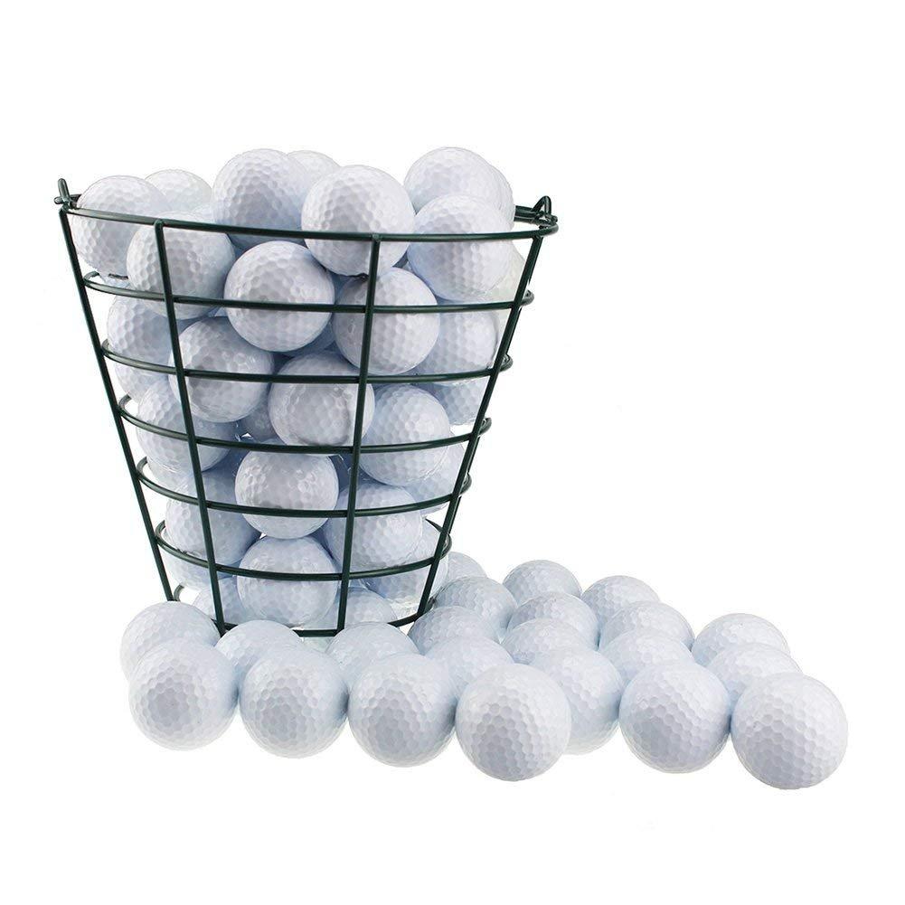 Taihemingna Metal Golf Basket Golfball Container-Green, Can Store 50 Golf Balls by Taihemingna