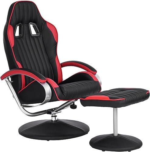 Homycasa Leisure Office Recliner Chair Ergonomic Design Racing Style Task Chair High-Back