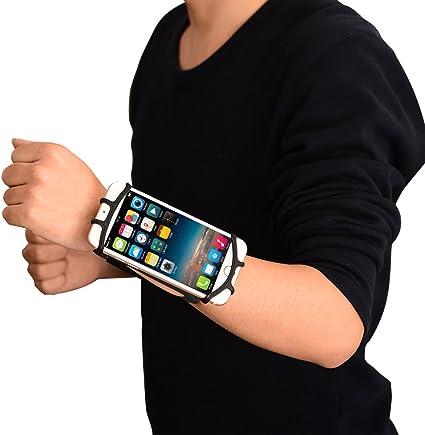 zantec deportes correr brazalete del antebrazo para iphone 7 Universal teléfono móvil smartphones funda de brazo para ejercicio, color negro: Amazon.es: Hogar