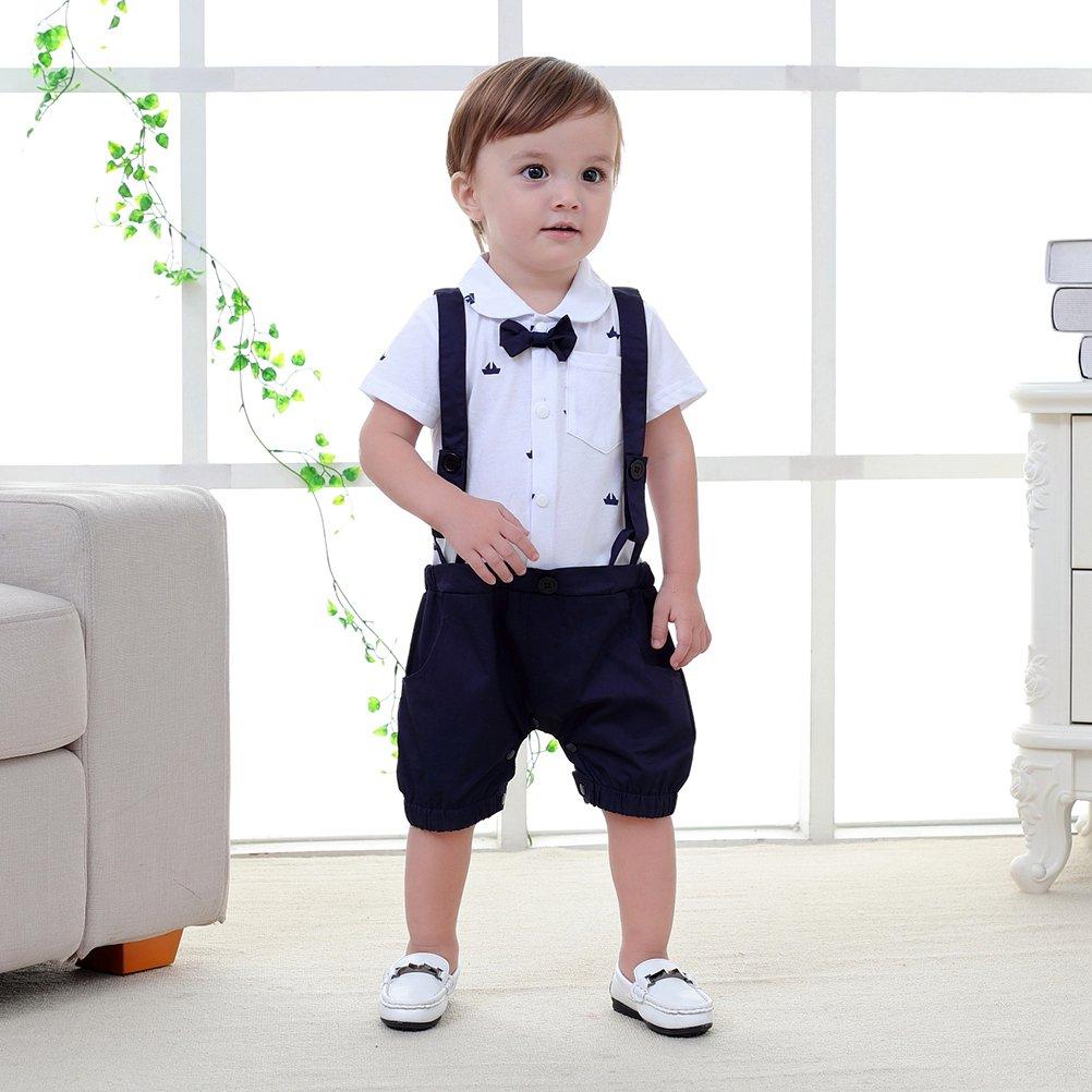 419442c84 Nyan Cat May s Baby Boys Bowtie Faux Suspenders Romper Onesie ...