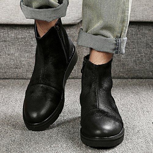 Booties Scarpe Black Vintage Uomo Martin da Casual Lavoro Plateau da Uomo da Donna Scarpe Low Top con Boots Primavera RqY7fwUR