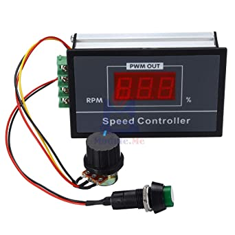 5A 6V//12V//24V PWM DC Motor Speed Regulator Digital Display LED+IR Remote Control