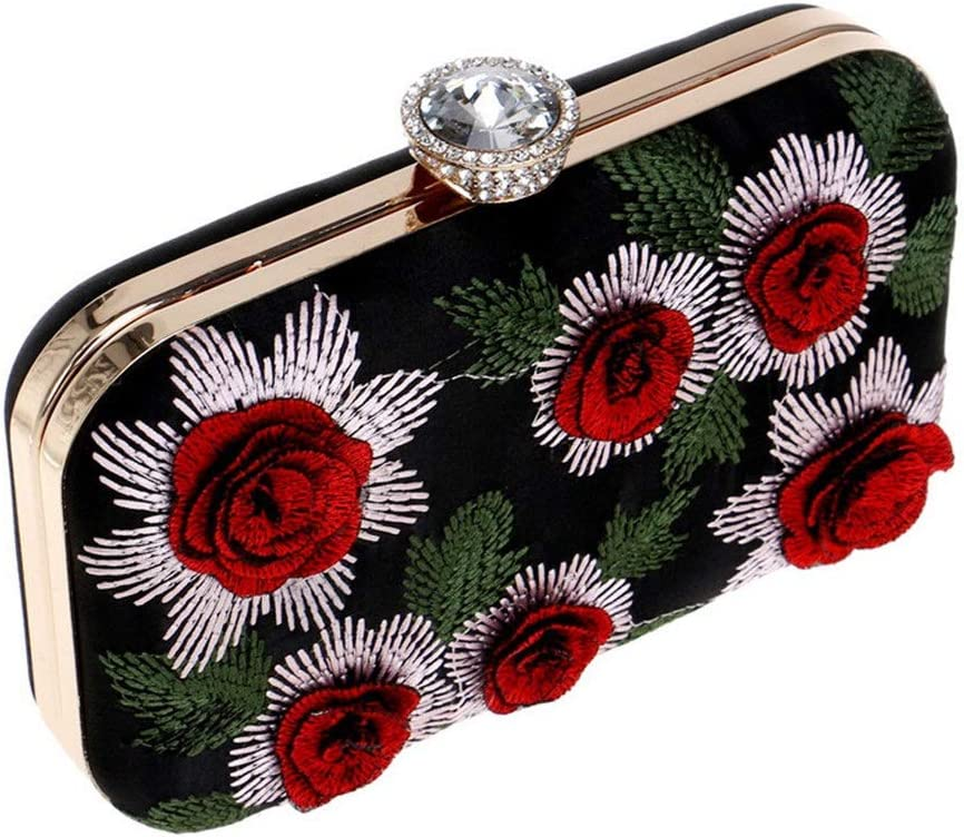 Amyannie Party Clutch Bag Ladies Evening Bag,Beaded and Sequined Women Evening Bag Evening Purse Clutch Bag Women Wallet Sparkling Evening Bag Color : A