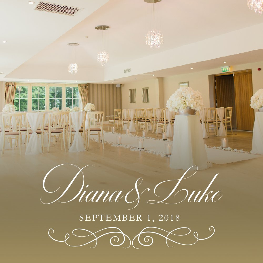 ArtsyPrints Custom stickers Wedding dance floor decal Personalized Bride Groom Names with Large Monogram and Date - 46'' Wide