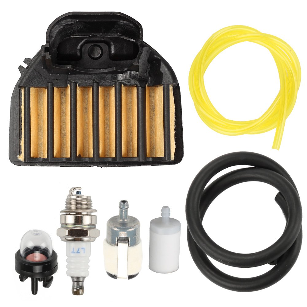 Harbot Air Filter Fuel Line Filter Carburetor Tune Up Kit for Husqvarna 455E 455 Rancher 460 461 Gas Chainsaw 537255701 by Harbot