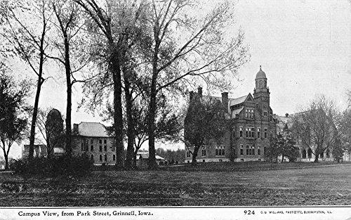 Grinnell Iowa Campus View Historic Bldgs Antique Postcard K85644