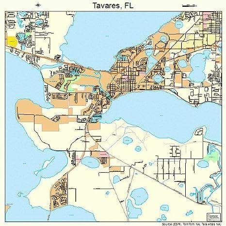 Map Tavares Florida.Amazon Com Large Street Road Map Of Tavares Florida Fl Printed