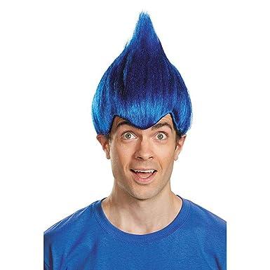 Trolls Dark Blue Wild   Wacky Vibrant Costume Wig Adult  Amazon.co.uk  Toys    Games 818a16faea50