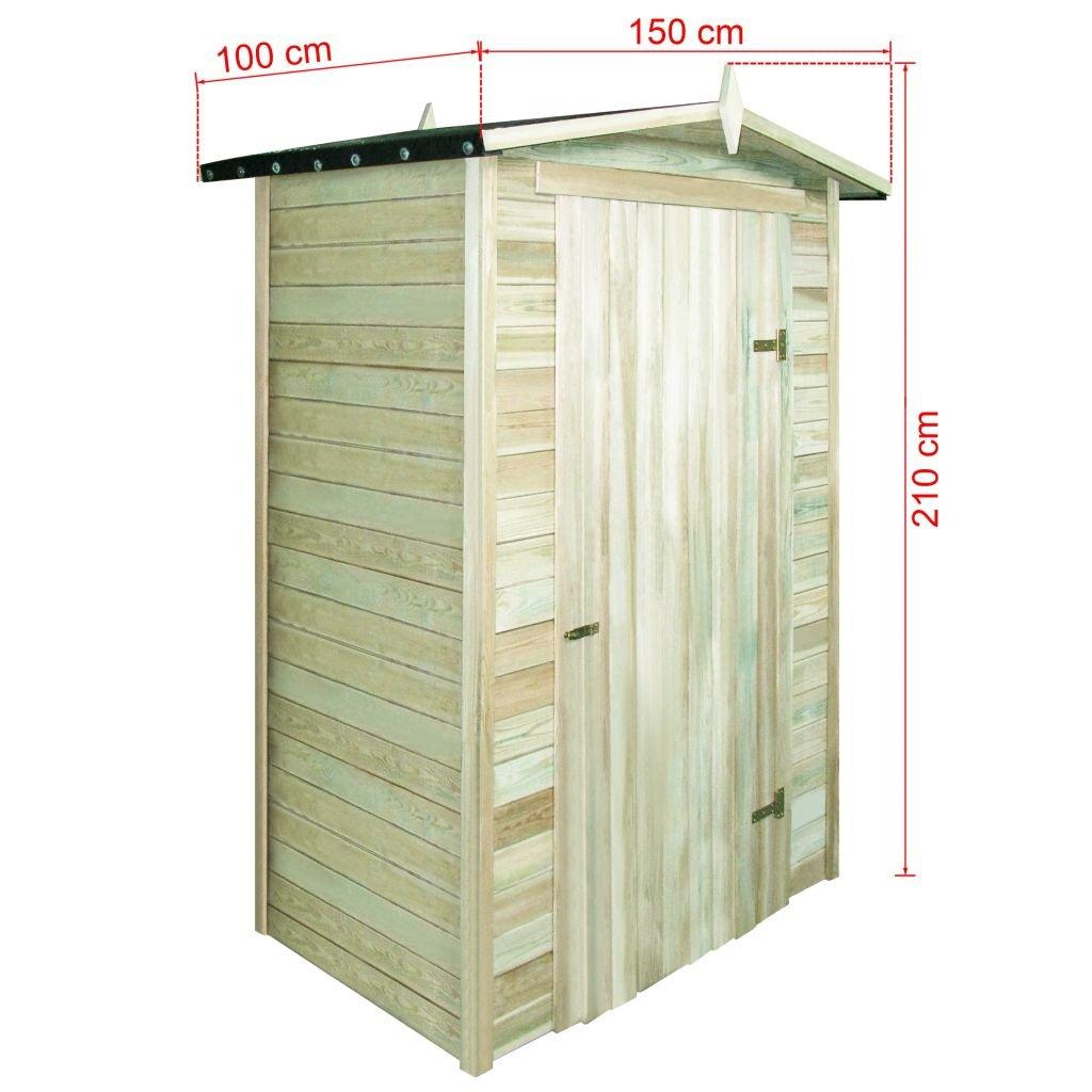 FZYHFA Caseta para leña de de Pino Impermeabilizada 150 x 100 x 210 cm Casa jardín casa Exterior Casa Herramientas Trabajo: Amazon.es: Jardín
